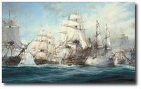 The Battle of Trafalgar by Robert Taylor