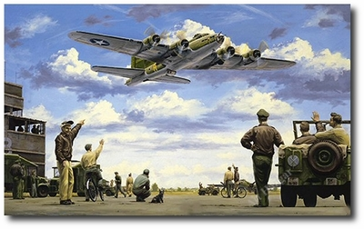 The Belle of Bassingbourn by Russell Smith (B-17 Flying Fortress)