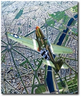 The Boulevards of Paris by Troy White (P-51 Mustang)