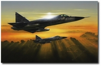 The Dagger's Glare by Darrell White (F-102 Delta Dagger)