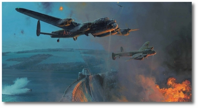 The Dambusters - Three Good Bounces by Robert Taylor (Lancaster)
