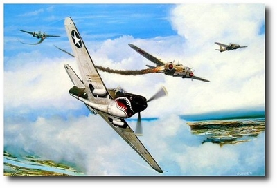 The Day I Owned the Sky by Marc Stewart (P-40)