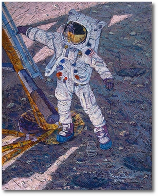 The First Human Footprint by Alan Bean (Apollo)