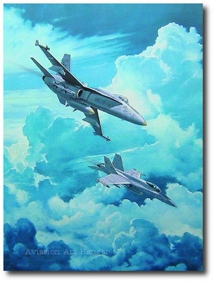 The Grey Ghosts by John Willis (FA-18 Hornet)