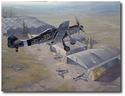 The Last Flight of Yellow 10 by Jack Fellows (Fw190)