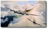 The Legend of Colin Kelly by Robert Taylor (B-17)