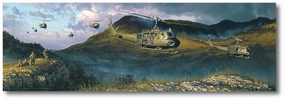 The Long Green Line by William S. Phillips (UH-1 Huey)