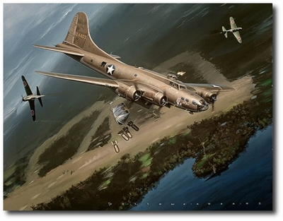 The Old Man's Ordeal by Jack Fellows (B-17 Flying Fortress)