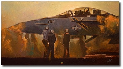 The Smell of Steam at Dusk by Bryan David Snuffer (FA-18F Super Hornet)