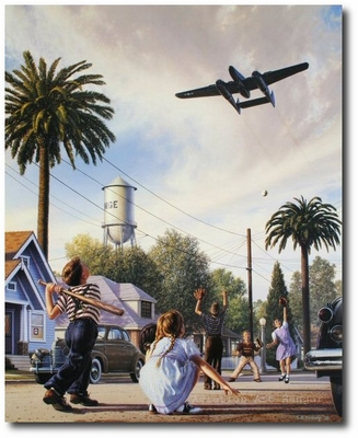The Spider and the Fly by Stan Vosburg (P-61 Black Widow)