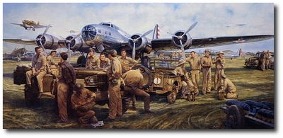 They Fought With What They Had by John Shaw (B-17)