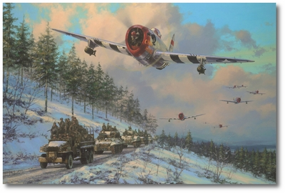 Thunder in the Ardennes by Anthony Saunders (P-47 Thunderbolt)