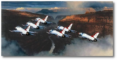 Thunder in the Canyon by William S. Philips (F-16)