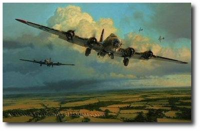 Thunderheads Over Ridgewell by Robert Taylor (B-17)