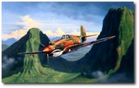 Tiger Pass by Jim Laurier (P-40)
