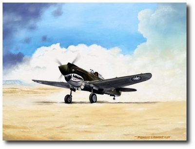 Tiger Scramble by Marc Stewart (P-40))