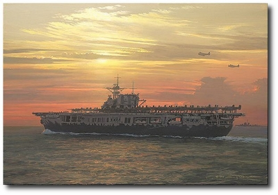 Toward the Setting Sun by William S. Phillips (B-25 Mitchell)