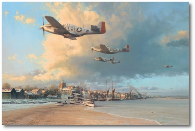 Towards the Home Fires by Robert Taylor (P-51 Mustang)