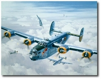 Under Attack, Tall, Torrid & Texas by Roy Grinnell (B-24 Liberator)