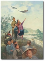 Under Their Wing by Roy Grinnell (P-40)
