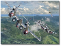 Until the Last Moment by Jim Laurier (P-38 Lightning)