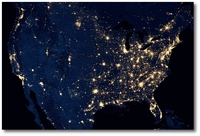 US at Night by NASA