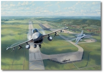 Volk Field F-16s by Jim Laurier