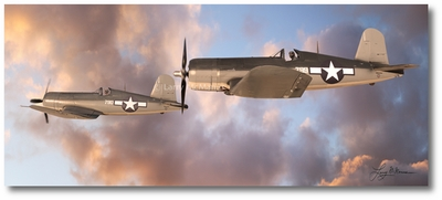 Vought F4U Corsair by Larry McManus