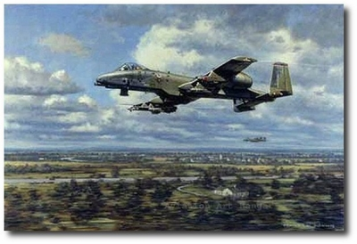 Warthogs Over Suffolk by Ronald Wong (A-10)