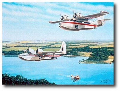 Water Birds by Sam Lyons (Grumman Goose and Mallard)