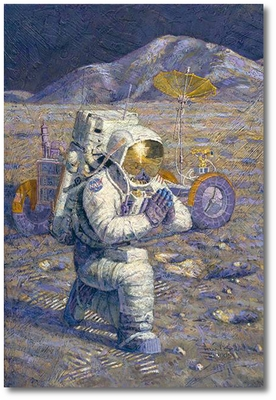 We Came in Peace for All Mankind by Alan Bean (Apollo)