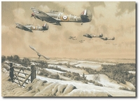 Winter Combat - Masterwork Pencil Drawing by Richard Taylor (Hurricane)