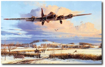 Winter's Welcome by Robert Taylor (B-17 Flying Fortress)