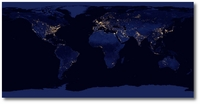 World at Night by NASA