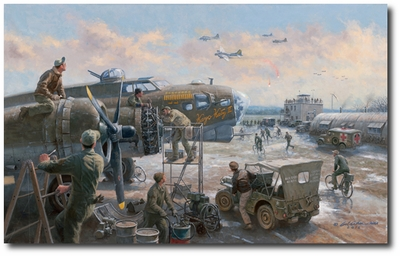 Wounded Aboard by Gil Cohen (B-17)