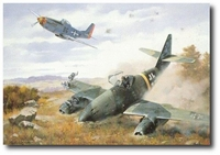 Yeager's First Jet by Roy Grinnell (Me262 & P-51)