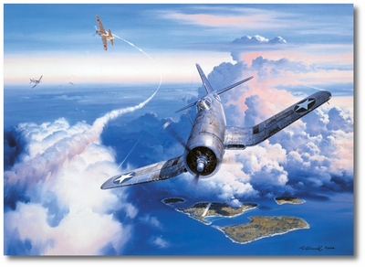 Zero Fighter Sweep by Roy Grinnell (F4U Corsair)