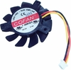Cofan  40x40x8 mm IV DC12v 0.14A Fan F-4008M12B-IV New Pull