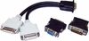Copartner DMS60 to Dual DVI Video Cable DMS60-2DVI with (2x) DVI to VGA adapter