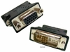 DVI 9+5 Pin-M to VGA 15-P-F Black DVI-9M-TO-VGA-F DVI-a Analog Adapter