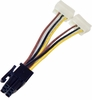 EVGa 6-Pin to Splitter 3-Pin Power Cable 601-EV-1009-R1