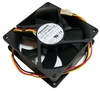 HP 12v DC 0.65a 80x25mm 3-Wire Fan PVA080G12Q-F03-AE 3-Pin Foxconn New Pull