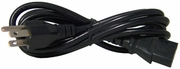 Gateway King-Cord 10A 125v PC Black Power Cord 8003840 8003840R New E85554 Cable