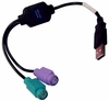 Hawkin Adapter USB to PS2 Converter Cable H-U2PS2