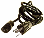 HP 10A 125V 18AWG 6ft Black Power Cord 453070800150R