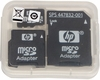 HP 2GB MicroSD Flash Memory with 2x Adapter 443493-001