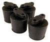 HP 603GG18001 Black Rubber Set of 4 Caps NEW 681293-001