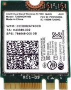 HP 7260NGW NB Intel DualBand 2x2 Wireless New 784648-005 802.11agn  PCIe USB M.2