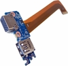 HP 755 850 G3 USB and Audio Board w/ Cable 836619-001