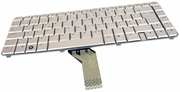 HP AEQT6S00110 Swiss Silver Laptop Keyboard 480669-BG1